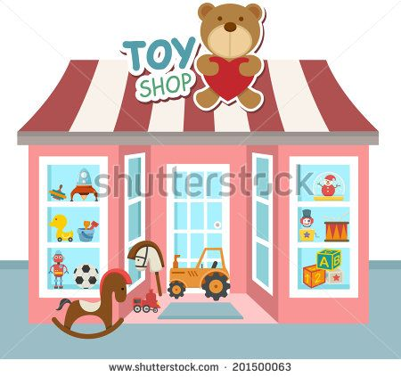Toy shop clipart vector illustration of toy shop vector - stock vector | biking ... vector