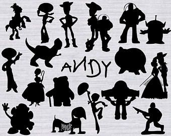 Toy silhouette clipart png download Toy Story SVG Bundle, Toy Story clipart, Toy story ... png download