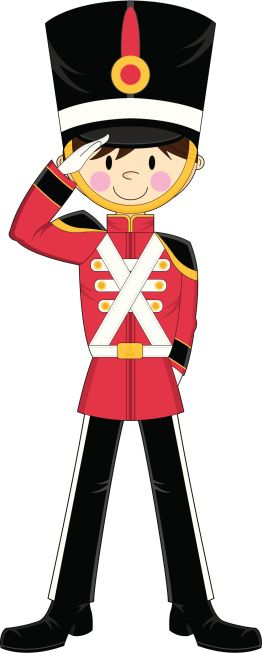 Toy soldier clipart free jpg free download Vector Illustration of an Adorably Cute Nutcracker style toy ... jpg free download