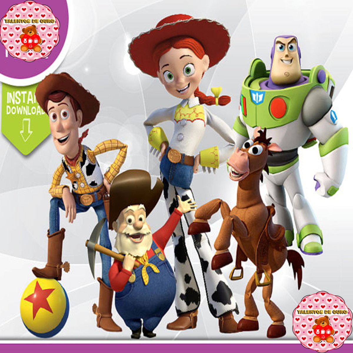 Toy story personagens clipart png Kit Digital Toy Story Vários Personagens Xerife Woody Buzz png