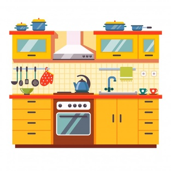 High resolution free kitchen clipart jpg black and white library Kitchen Vectors, Photos and PSD files | Free Download jpg black and white library