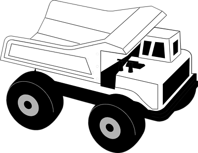 Toy truck clipart black and white graphic black and white library Toy truck clipart black and white 2 » Clipart Portal graphic black and white library