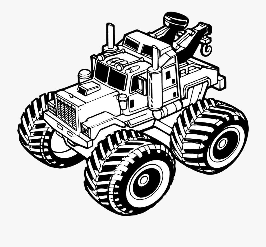 Toy truck clipart black and white clip art royalty free download Truck Transparent Toy - Toy Truck Clipart Black And White ... clip art royalty free download