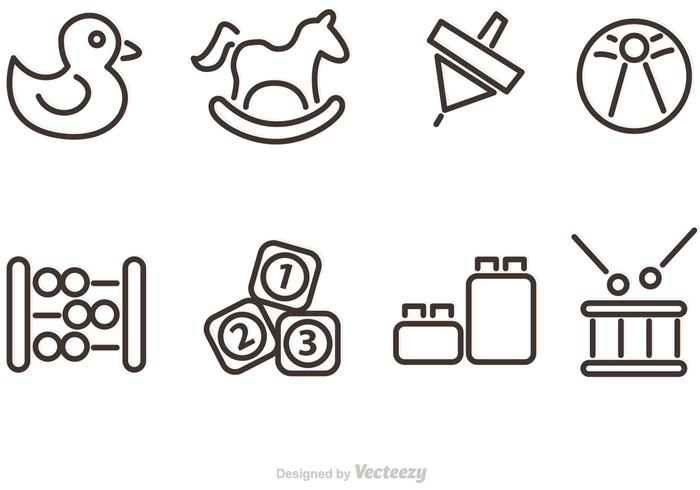 Toy vector clipart png black and white stock Outlined Baby Toy Vector Icons - Download Free Vectors ... png black and white stock