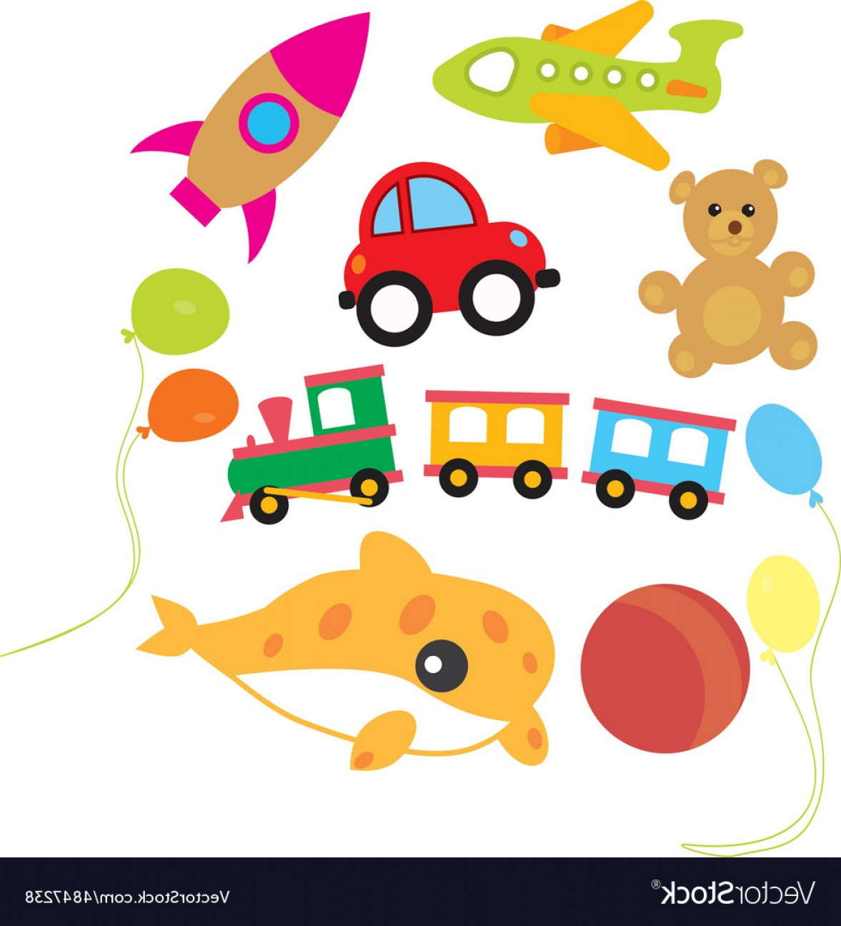 Toy vector clipart clip royalty free Toy Vector Art | CQRecords clip royalty free