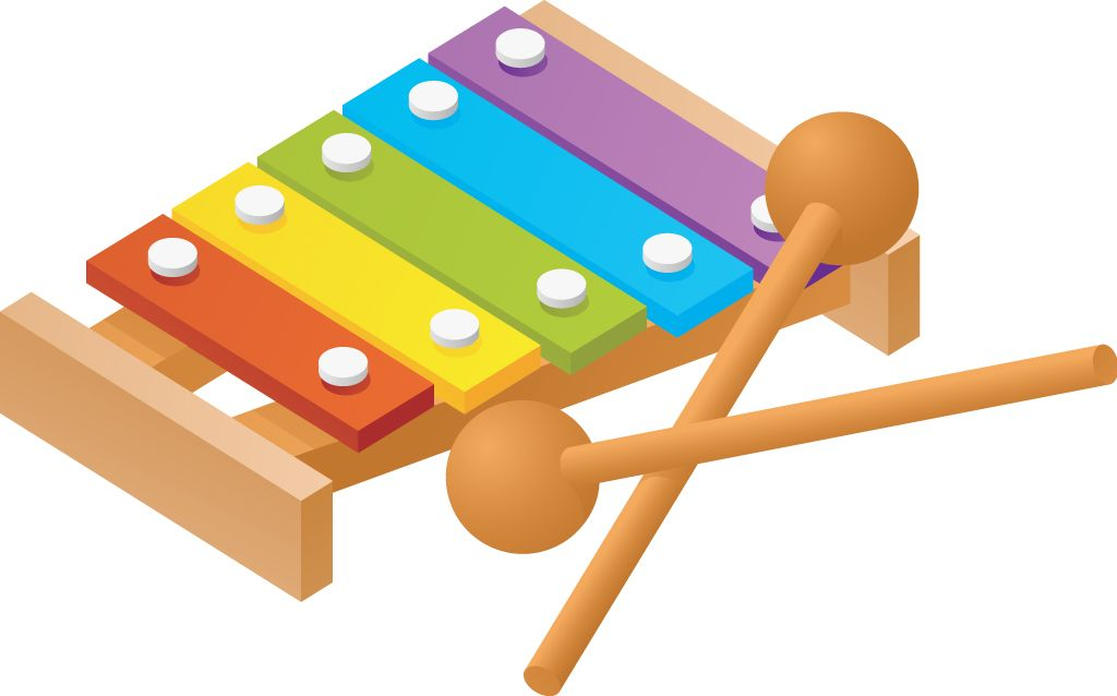 Toy xylophone clipart black and white stock Baby Toys Clipart | clip art | Baby toys, Toys for autistic ... black and white stock