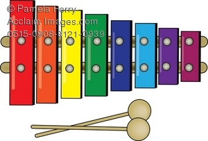 Toy xylophone clipart image library download Clip Art Illustration of a Child\'s Colorful Xylophone image library download