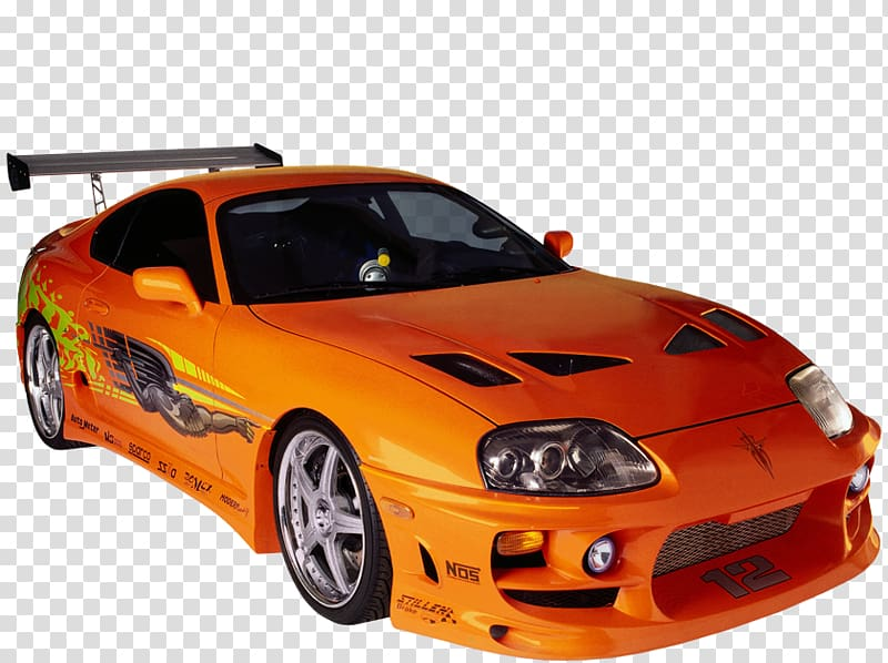 Toyota supra clipart jpg library stock Fast & Furious Brian Connor\'s orange Toyota Supra MKIV, Car ... jpg library stock