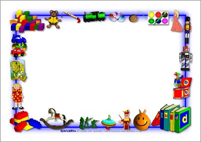 Toys border clipart graphic library download Toys-themed A4 page borders (SB3895) - SparkleBox | Tags ... graphic library download