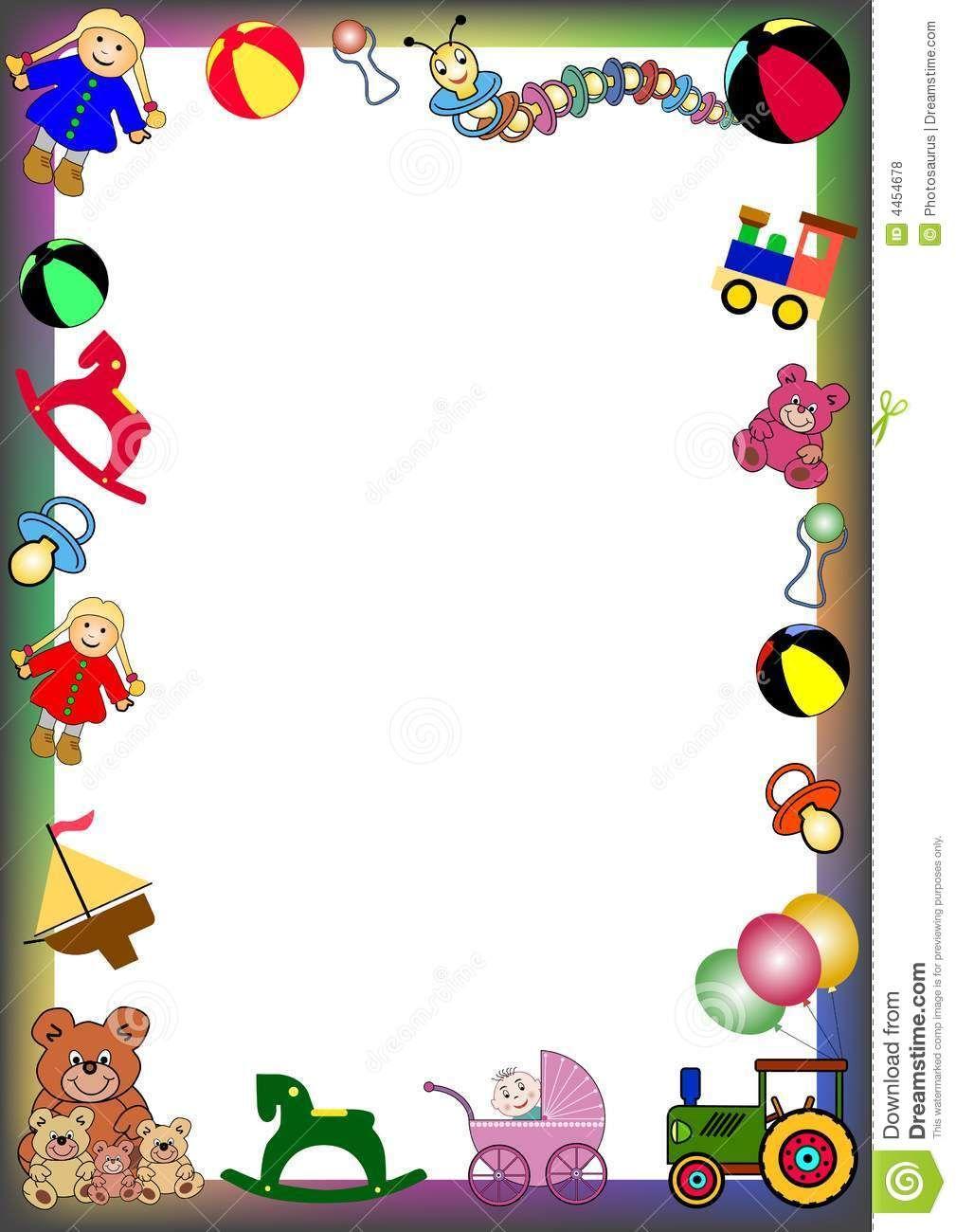Toys border clipart clip transparent stock bath toys clipart - Google Search | Border and corner ... clip transparent stock