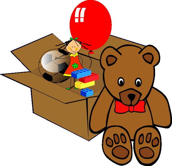 Shhh teddy bear clipart clipart library Box Full Of Toys Clip Art at Clker.com - vector clip art ... clipart library