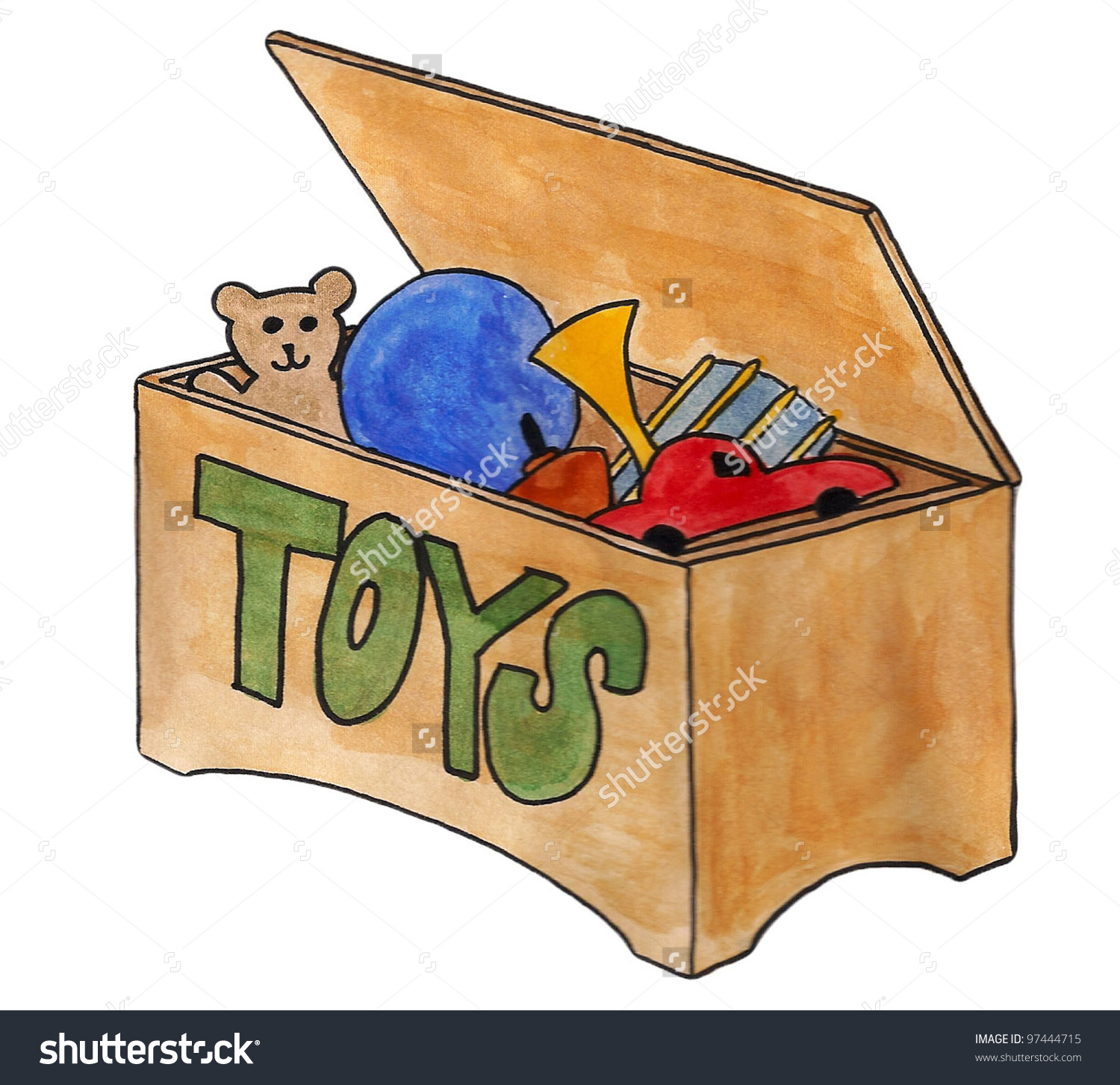 Toy in a box clipart vector royalty free 94+ Toy Box Clipart | ClipartLook vector royalty free