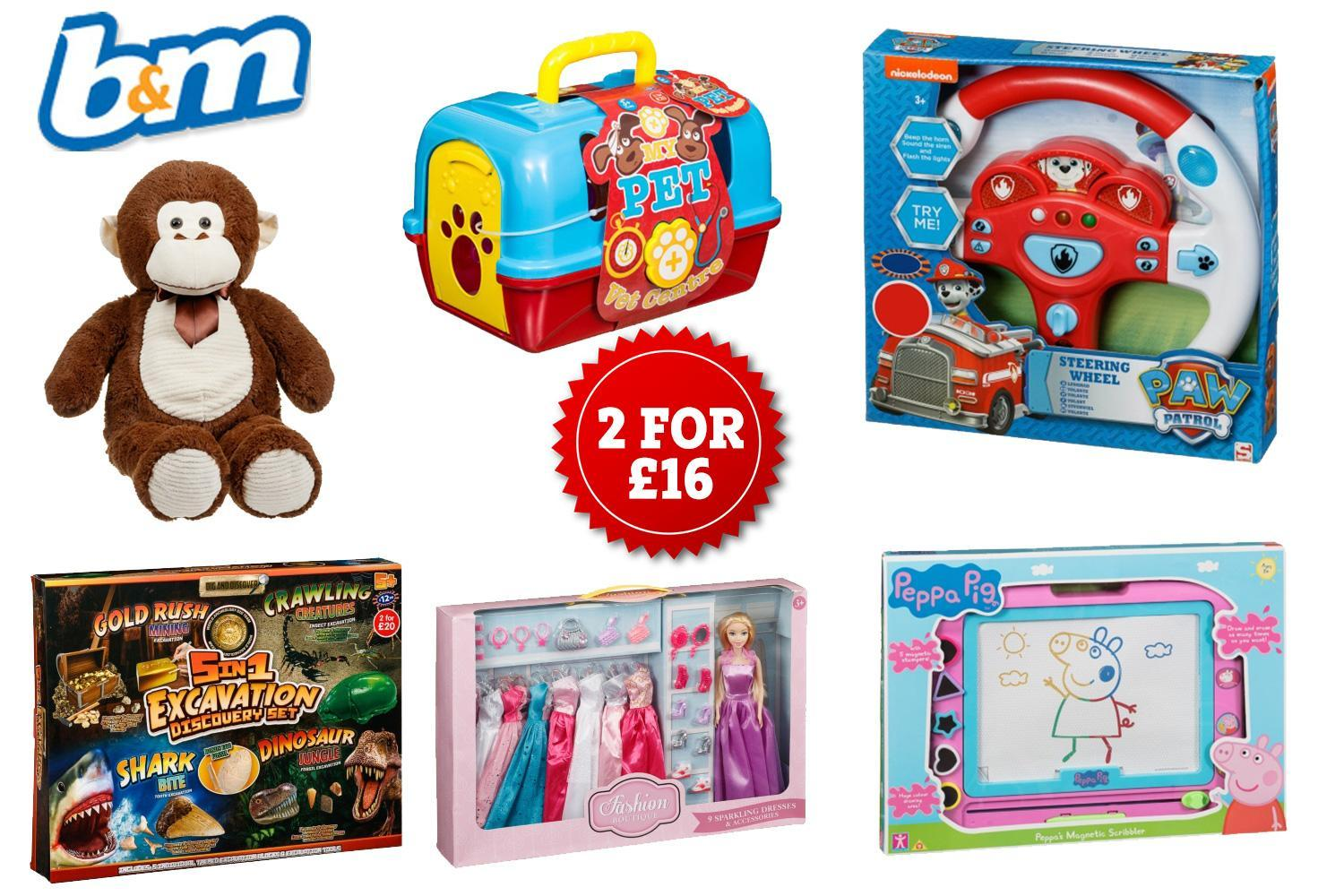Toys starting with b clipart free B&M is doing 2 toys for £16 in last minute sale for Christmas free