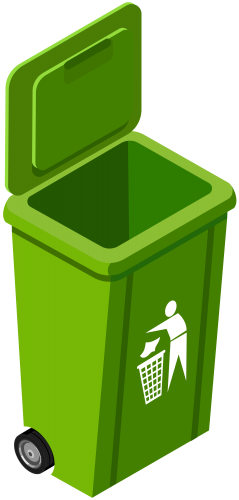 Green Trash Can PNG Clip Art Image - Best WEB Clipart jpg black and white download