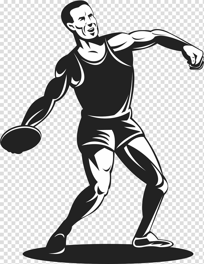 Track and field discus clipart svg library Discus throw Athlete Track and field athletics , Discus ... svg library
