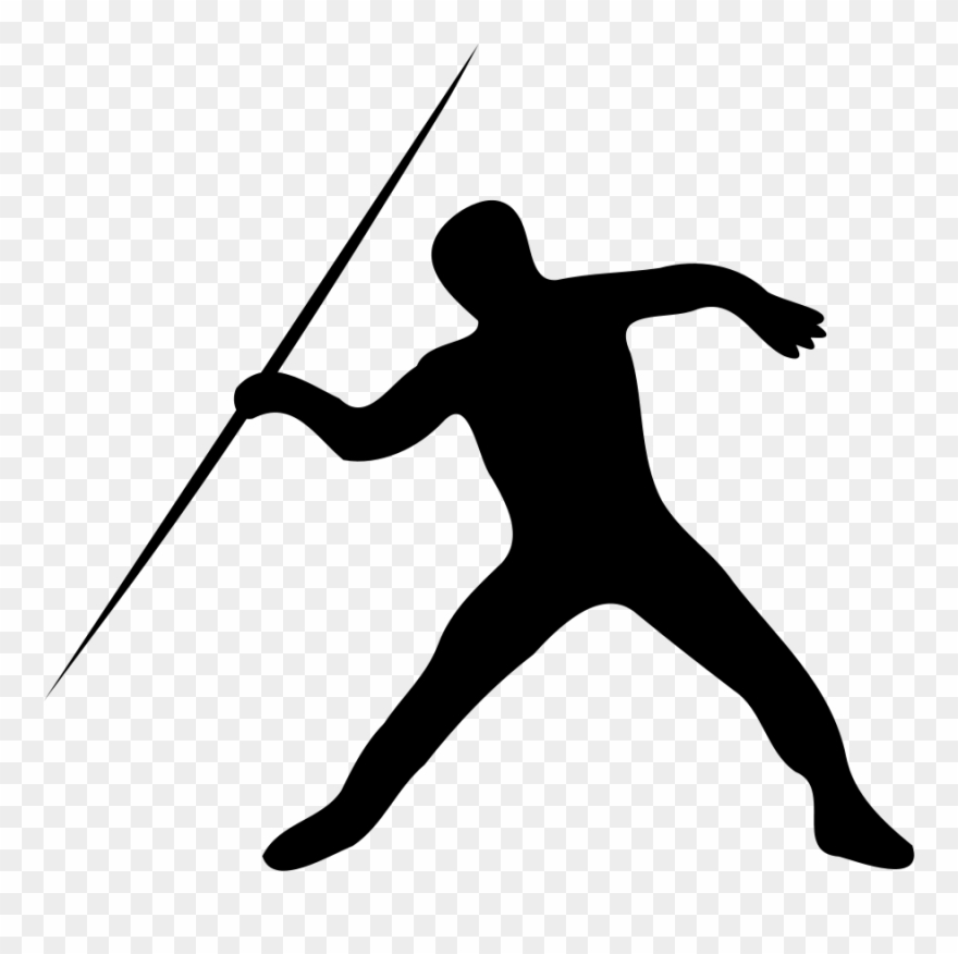 Track and field running clipart transparent library Track & Field Sports Running Sprint Silhouette - Javelin ... transparent library
