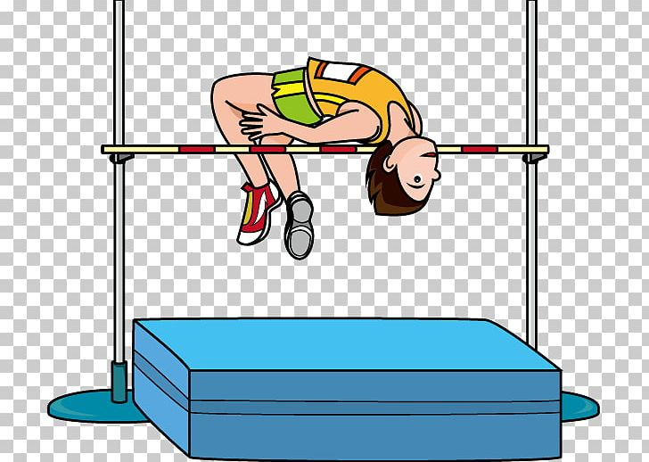 Track athlete clipart png black and white stock High Jump Free Content Track And Field Athletics PNG ... png black and white stock