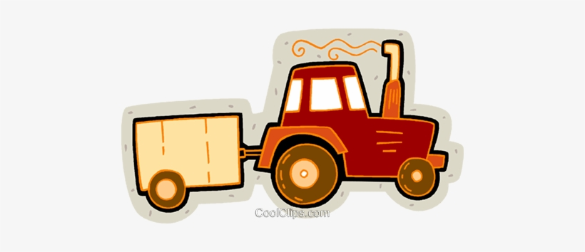 Tractor and trailor clipart png png black and white library Tractor With Trailer Royalty Free Vector Clip Art ... png black and white library