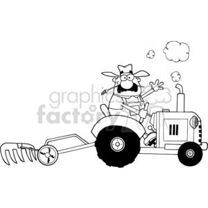 Tractor clipart black and white in field royalty free tractor clipart - Royalty-Free Images | Graphics Factory royalty free