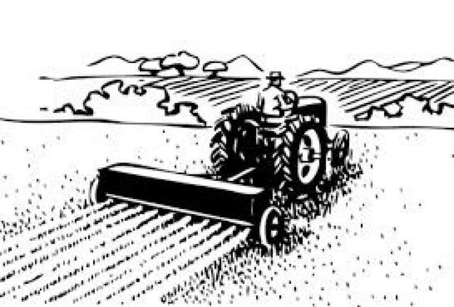 Tractor clipart black and white in field banner transparent stock Download agriculture black and white clipart Agriculture ... banner transparent stock