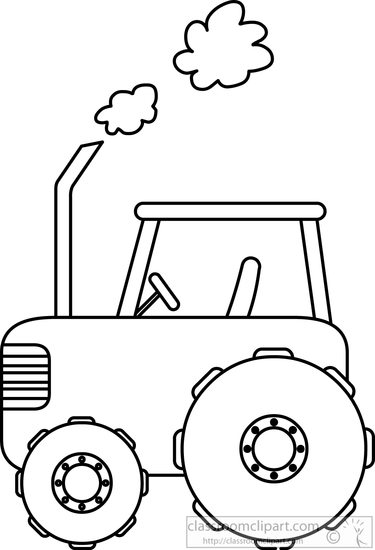 Tractor clipart black and white in field vector freeuse library Transportation Clipart Tractor In Field Black White - Free ... vector freeuse library