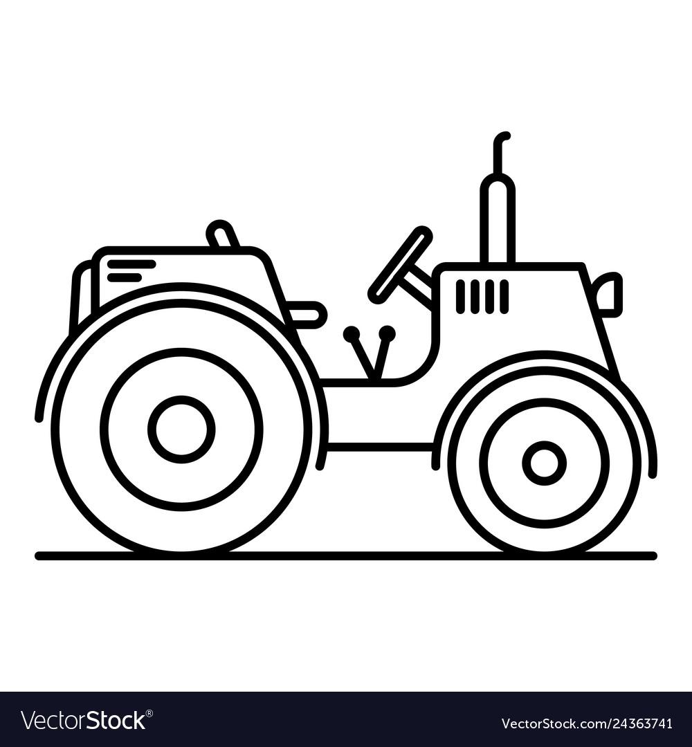Tractor icon clipart svg library stock Farm tractor icon outline style svg library stock