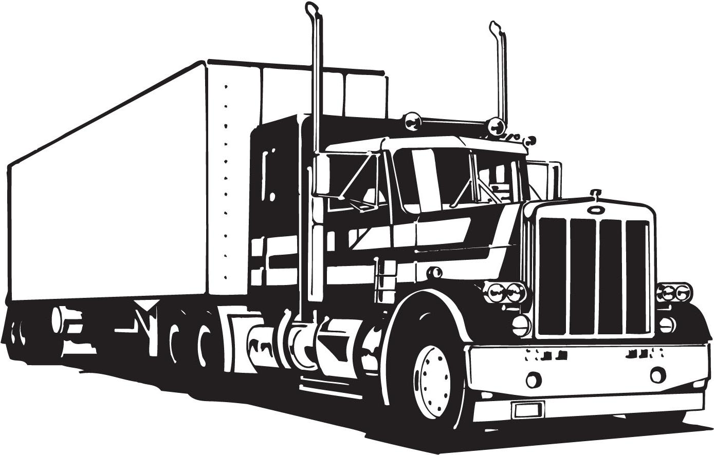 Tractor trailer clipart free svg freeuse download Top Tractor-trailer Clip Art Image » Free Vector Art, Images ... svg freeuse download