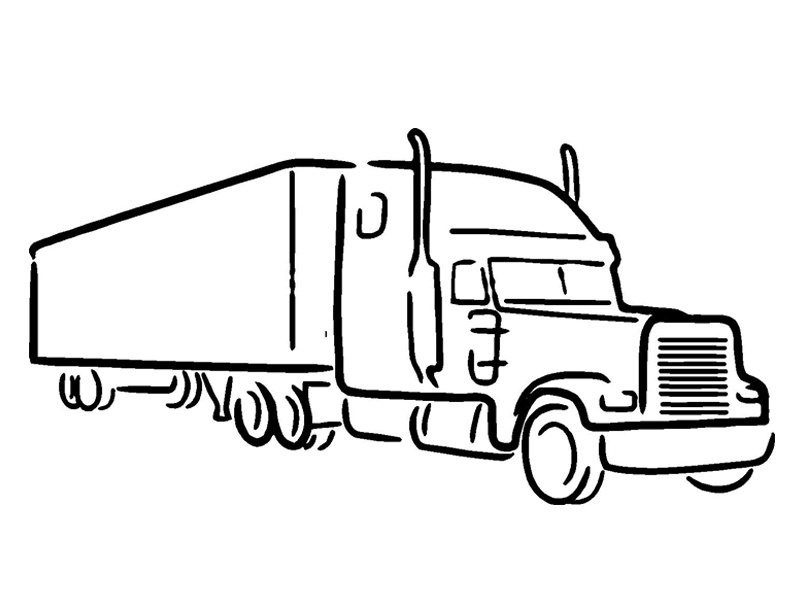 Tractor trailer clipart free graphic freeuse library Tractor Trailer Drawing at PaintingValley.com | Explore ... graphic freeuse library