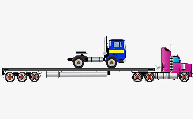Tractor trailer flatbed clipart svg free Tractor-trailer Flatbed Truck Vector, Tr #85416 - PNG Images ... svg free