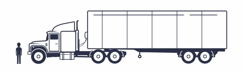 Tractor trailer flatbed clipart banner free Solo Flatbed Tractor Trailer Side View - Clip Art Library banner free