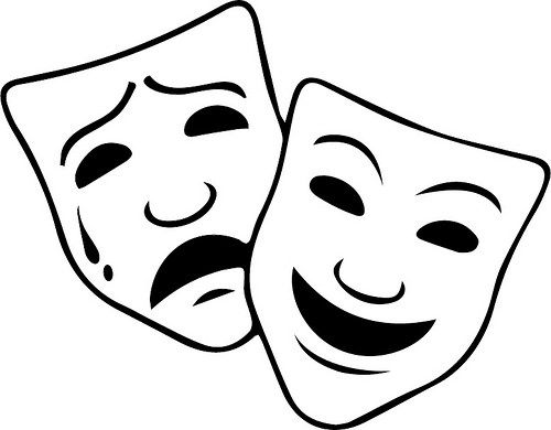 Tradgey and comedy mask black and white clipart jpg library Comedy Tragedy Mask   The Craft Chop   SVGs - The Craft Chop ... jpg library