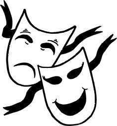Tradgey and comedy mask black and white clipart vector stock How To Draw Drama Masks   Free download best How To Draw ... vector stock