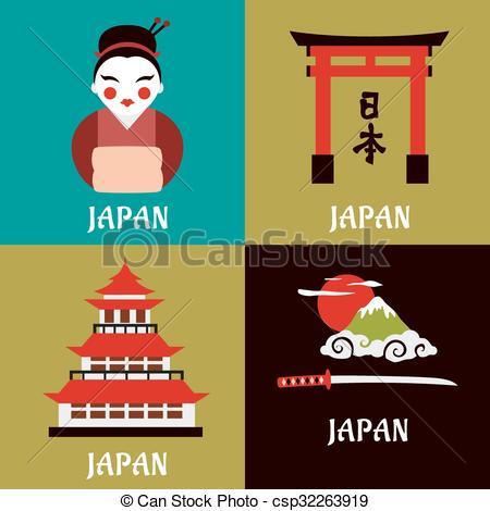 Tradiciones clipart freeuse download plano, tradiciones, iconos, cultura japonesa, religioso freeuse download