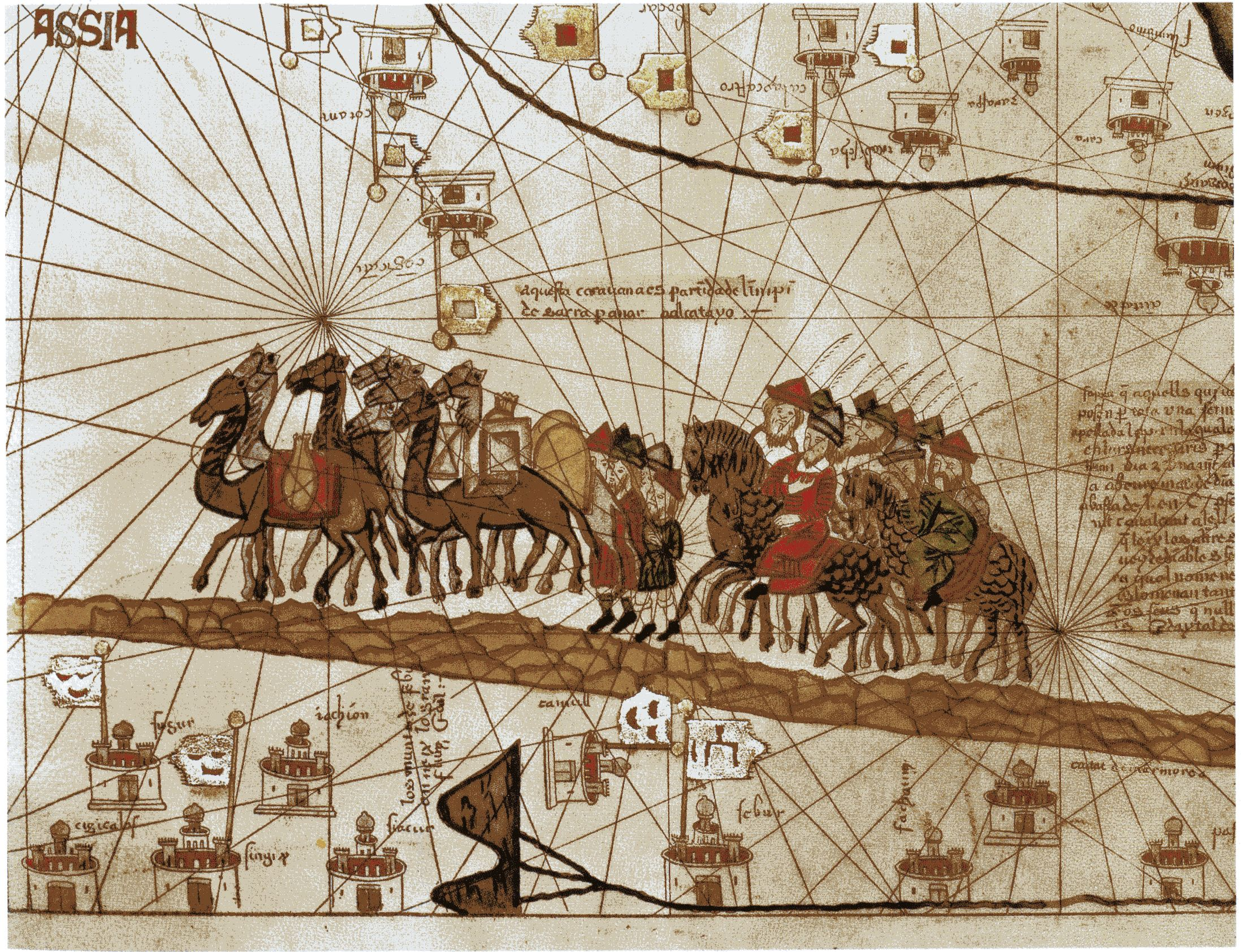 Trading silk road clipart graphic freeuse library Map Marco Polo\'s Caravan along the silk road. | Explorers of ... graphic freeuse library