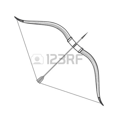 Traditional arrow clipart png black and white 1,222 Traditional Archery Stock Vector Illustration And Royalty ... png black and white