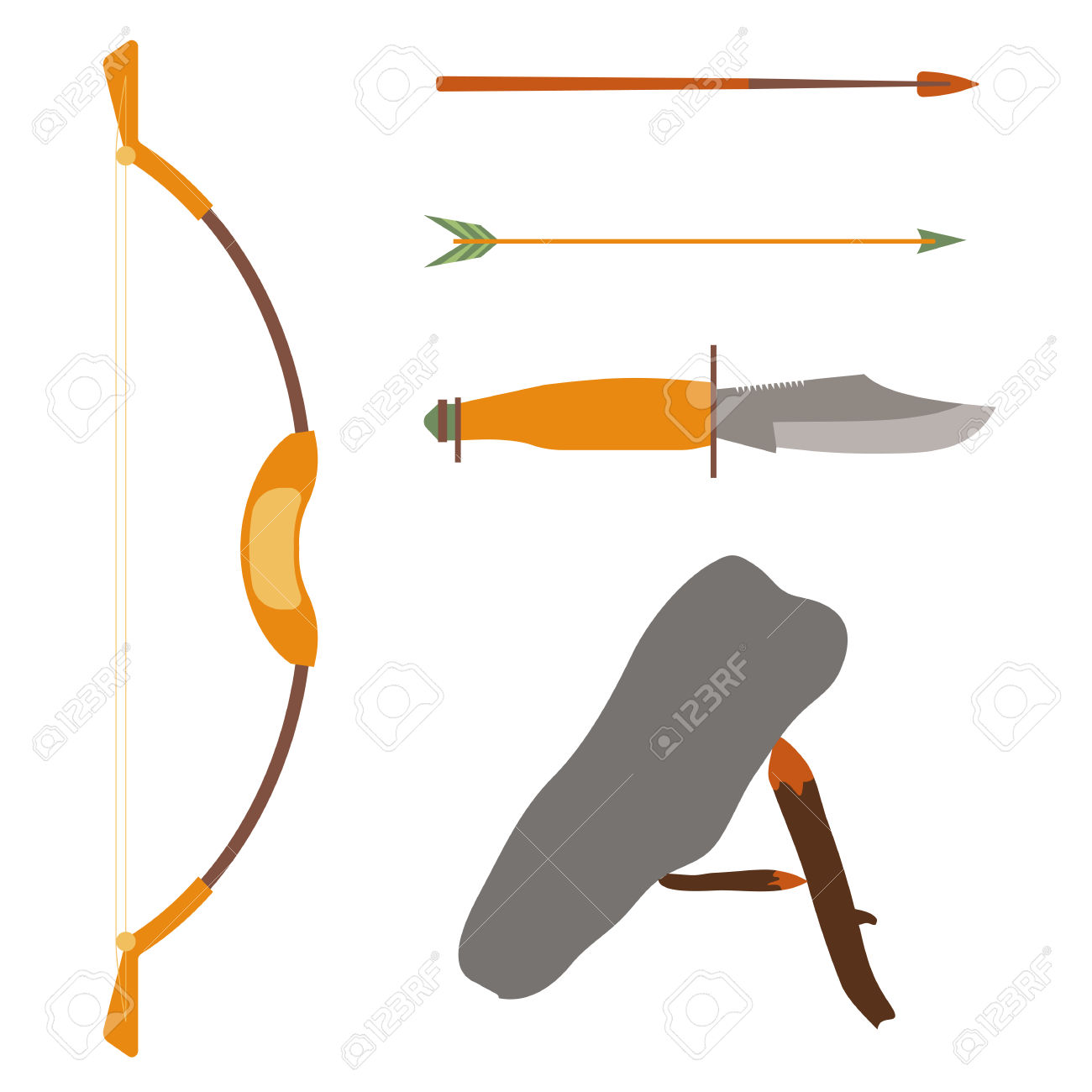 Traditional arrow clipart picture free Ancient History Hunting Objects. Weapon Arrow And Bow, Traditional ... picture free