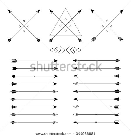 Traditional arrow clipart picture download Arrow Clip Art Set Vector On Stock Vector 198361769 - Shutterstock picture download