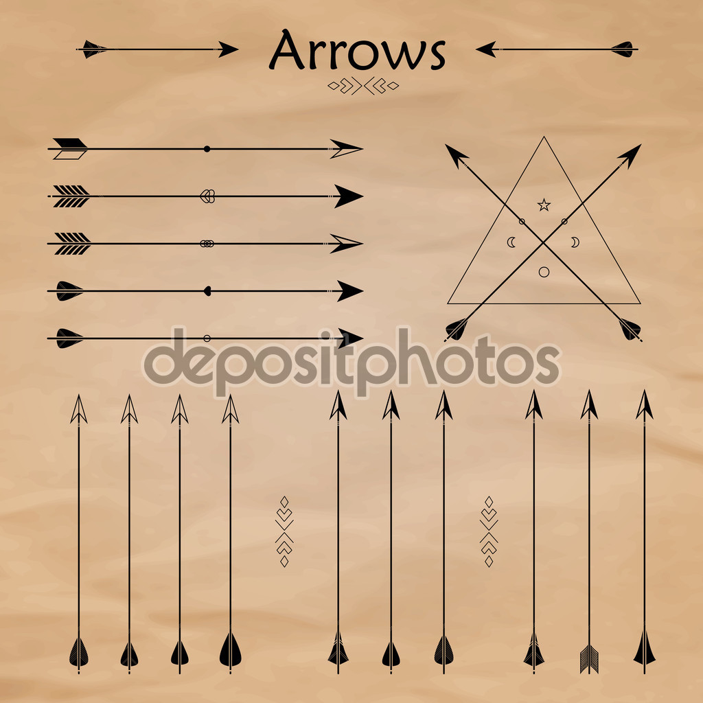 Traditional arrow clipart png black and white Traditional arrow clipart - ClipartFest png black and white