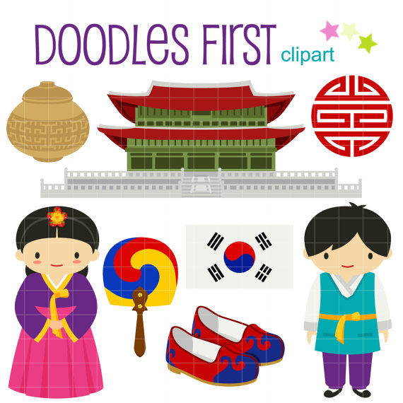 Traditional art clipart clip free download Korean Girl Hanbok, Hanbok Clip Art, Hanbok Girl, Korean ... clip free download