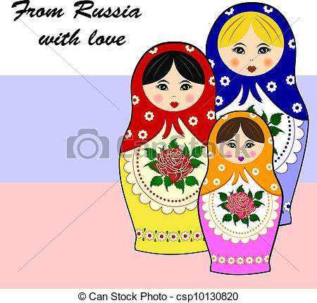 Traditional art clipart vector royalty free stock Vector Illustration of Traditional russian matryoschka dolls ... vector royalty free stock