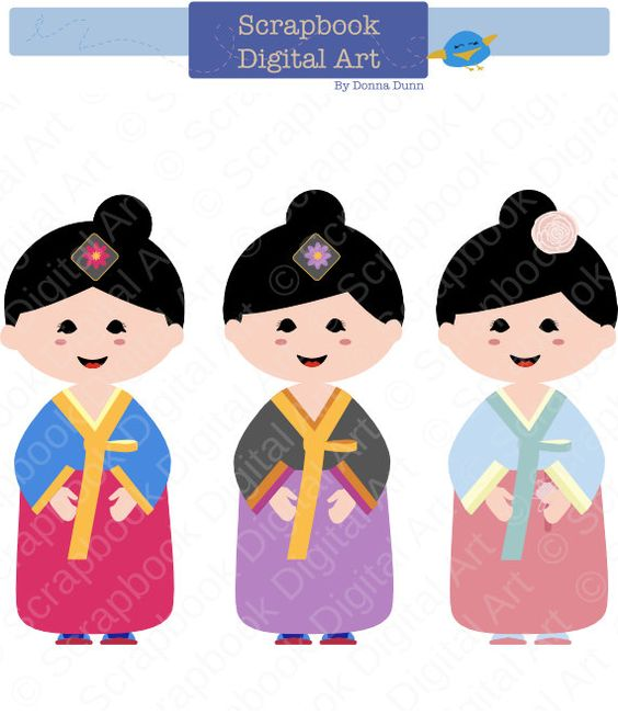 Traditional art clipart clipart freeuse Korean Girl Hanbok, Hanbok Clip Art, Hanbok Girl, Korean ... clipart freeuse
