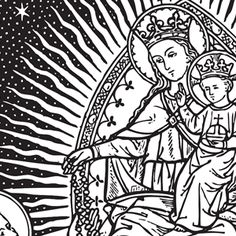 Traditional catholic clip art picture free http://www.twoheartsdesign.com/images/clipart/catholic/ourlady ... picture free
