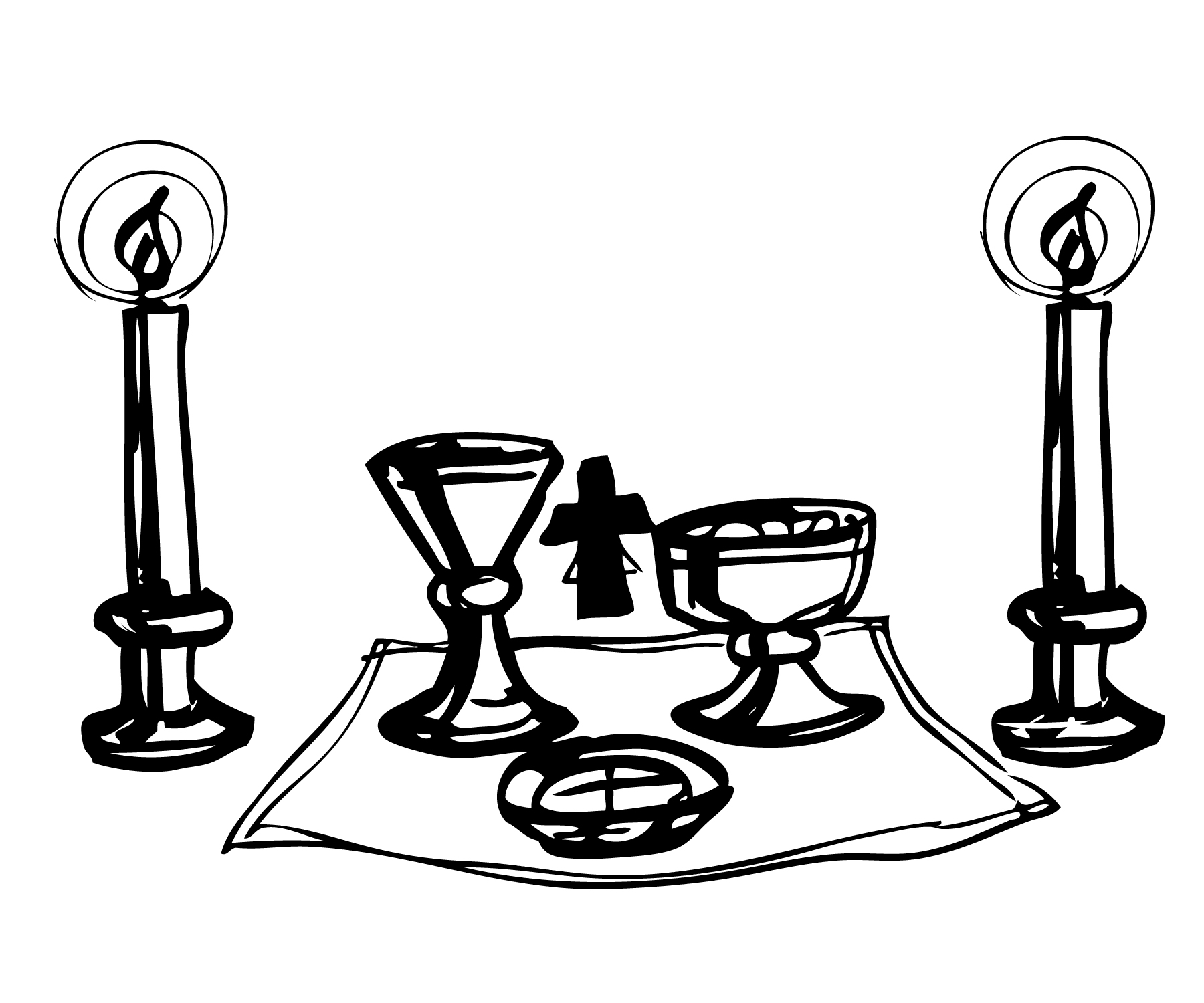 Traditional catholic clip art clip library library Clip Art Communion Altar Clipart - Clipart Kid clip library library
