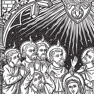 Traditional catholic clip art picture black and white stock Catholic Line Art, Black and White • Installment #42 picture black and white stock