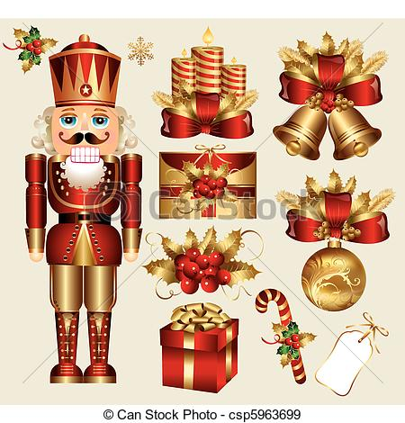 Traditional christmas clip art royalty free stock Traditional Christmas Clipart royalty free stock