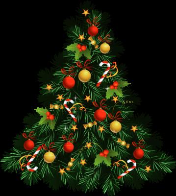 Traditional christmas clip art clipart black and white Classic christmas tree clipart - ClipartFest clipart black and white