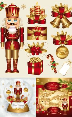 Traditional christmas clipart graphic freeuse Nutcracker Clip Art Set-Christmas clipart, traditional nutcrackers ... graphic freeuse