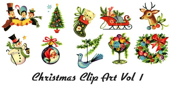 Traditional christmas clipart