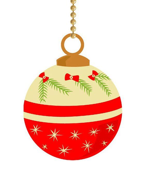 Traditional christmas decoration clipart graphic download 10 vintage Christmas ornament clip art, pastel color, retro ... graphic download