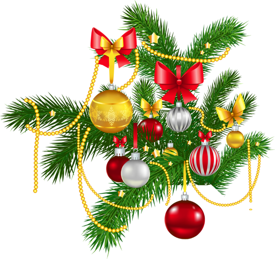 Traditional christmas decoration clipart